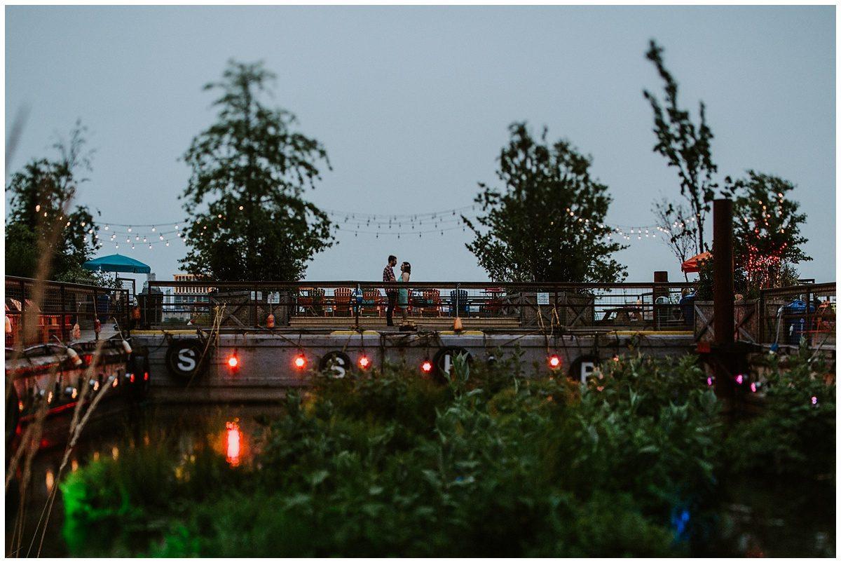 Spruce Street Harbor Park Engagement