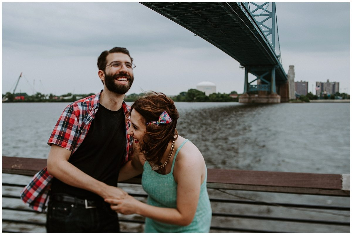 Ben Franklin Bridge engagement photos