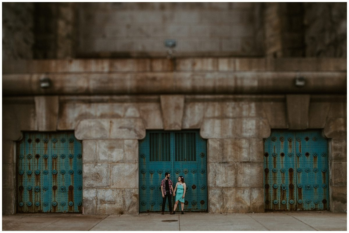 Race Street Pier engagement photography, Ben Franklin Bridge