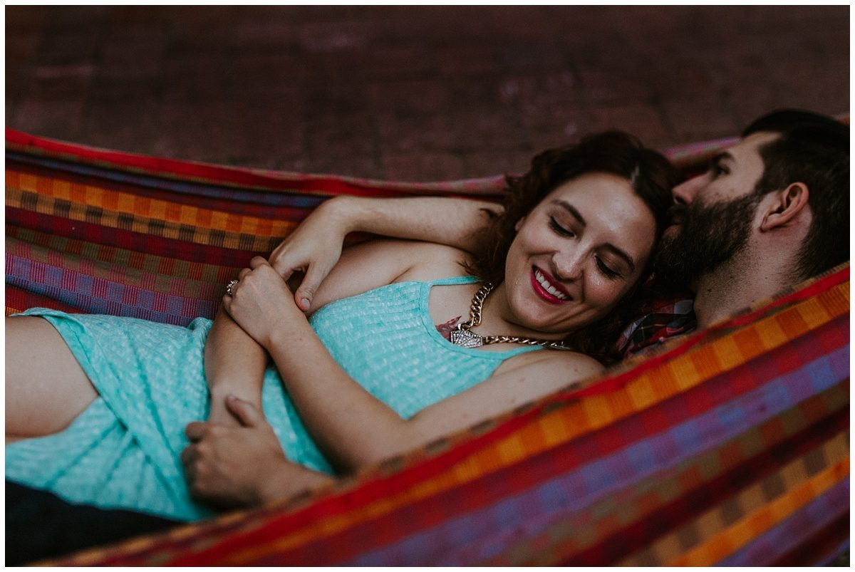 Spruce Street Harbor Park Hammocks, Engagement Photography